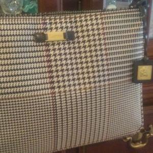 Classic Ralph Lauren Houndstooth Handbag